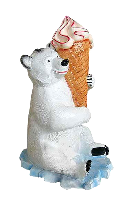 Makieta loda włoskiego z misiem